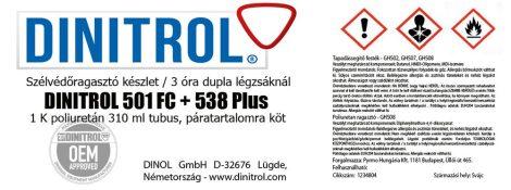 Szélvédőragasztó készlet DINITROL 501 FC + 538 Plus 30 ml