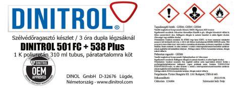 Szélvédőragasztó készlet DINITROL 501  FC + 538 Plus 10 ml