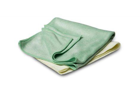 Mikroszálas kendő / 2 db / zöld, sárga