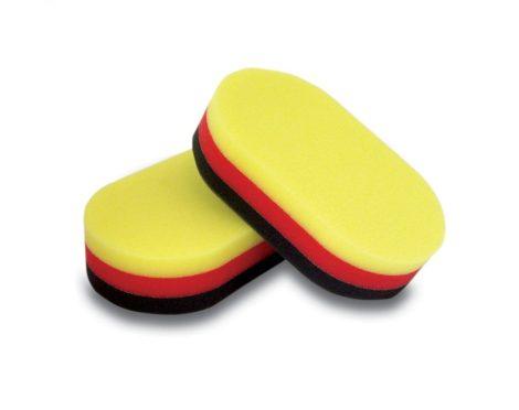 Kézi polírozó szendvics szivacs 2 db piros