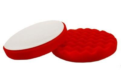 Tépőzáras piros polírozó korong extra finom 150x25 hullám