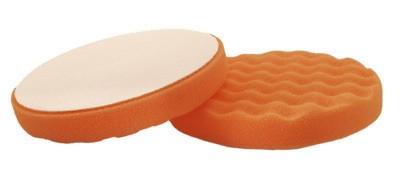 Tépőzáras narancssárga polírozó korong tömör 150x25 hullám