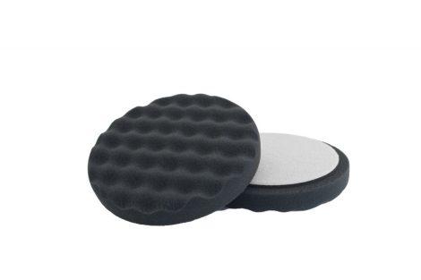 Tépőzáras fekete szivacs finom 150x25 hullám