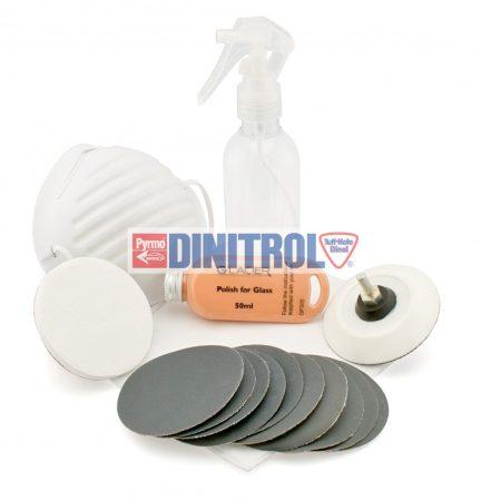 Szélvédő csiszoló- polírozó készlet
