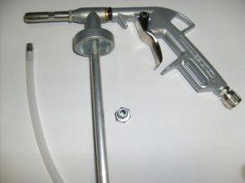 Alvázvédő pisztoly üregelő csővel